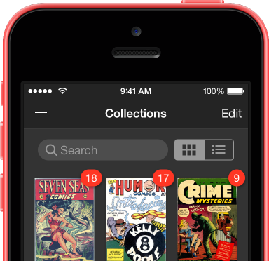 iComics on iPhone 5c